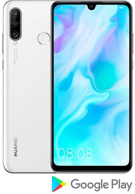 Huawei P30 lite, 4 GB/128 GB, Pearl White - použité