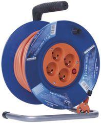 Emos PVC prodlužovací kabel na bubnu - 4 zásuvky, 20 m, 1 mm2 1908142001