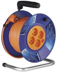 Emos PVC prodlužovací kabel na bubnu - 4 zásuvky, 30 m, 1 mm2 1908143001
