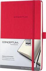 "Sigel Záznamní kniha ""Conceptum"", červená, A4, linkovaný, 194 stran"
