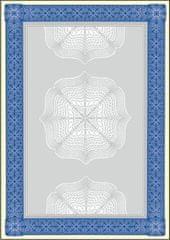Sigel Papír s motivem diplomu/certifikátu, modrá, A4, 185g, 20 listů