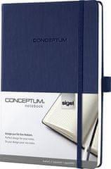 """Sigel Záznamní kniha """"Conceptum"""", noční modrá, A5, čtverečkovaná, 194 stran"""