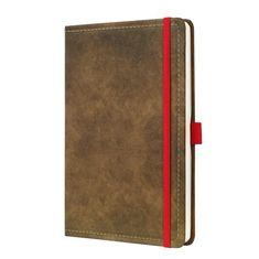 """Sigel Záznamní kniha """"Conceptum Vintage"""", hnědá, A5, linkovaná, 194 listů"""