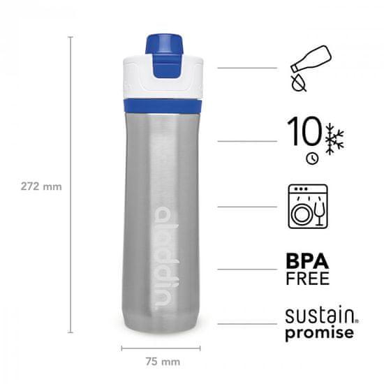 Aladdin Active Hydration Sportovní vakuová láhev na vodu 600ml modrá