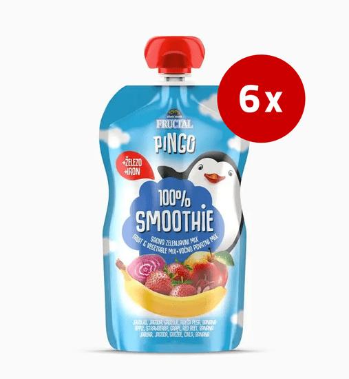 Fructal Pingo Smoothie, jagoda, rdeča pesa, 6 x 110 g
