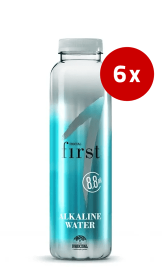 Fructal First alkalna voda, 6 x 0,5 l