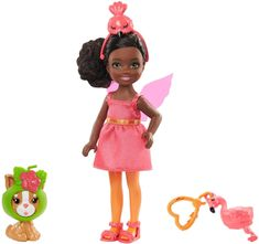 Mattel Barbie Chelsea v kostumu flaminga