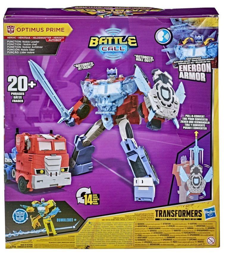 Transformers Cyberverse Optimus Prime reagující na hlas