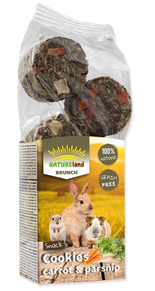 NATURE LAND Brunch sušenky s mrkví a pastinákem 4x120 g