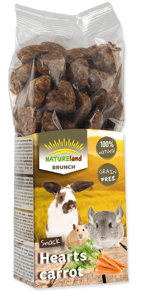 NATURE LAND Brunch srdíčka s mrkví 6x150 g