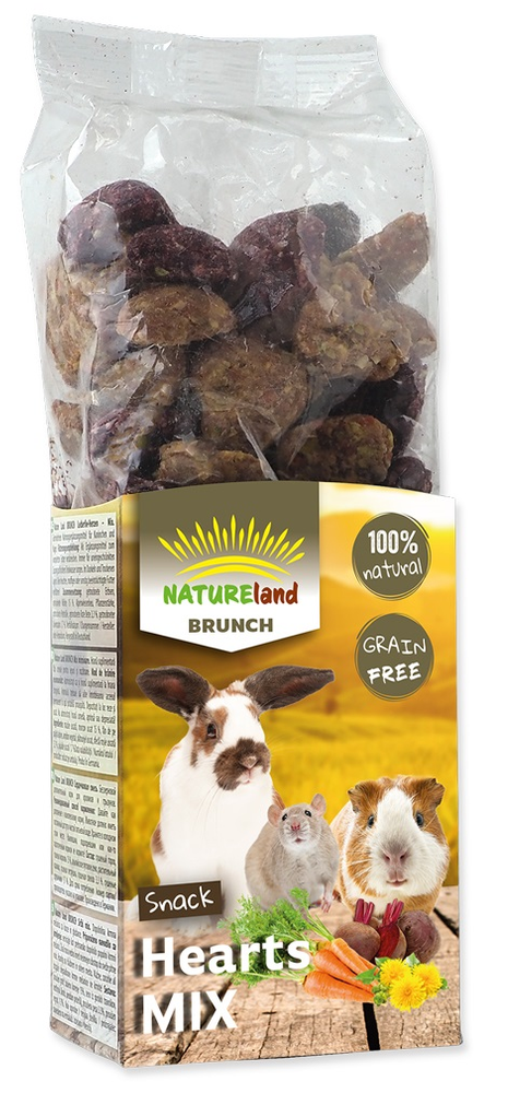 NATURE LAND Brunch srdíčka mix 6x150 g
