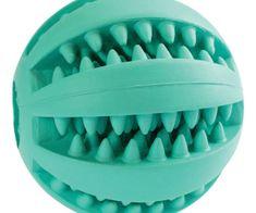Trixie Dentální péče mátový balónek 6cm kiddog, přírodní guma