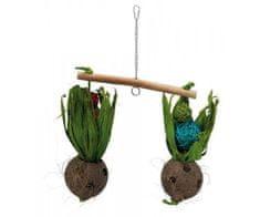 Trixie Hračka závěsná houpačka s kokosovými ořechy 30 x 50 cm
