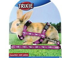 Trixie Nylon. postroj s vodítkem na králíka - motiv 25-44/1cm