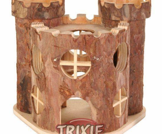 Trixie Dřevěný Hrad Matti Pro Hlodavce 17x15x12cm Trixie
