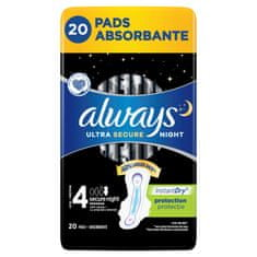 Always Ultra Secure Night higienski vložki, 20 kosov