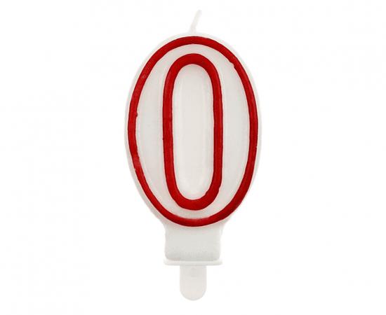 GoDan Dortová svíčka číslo 0 - červená