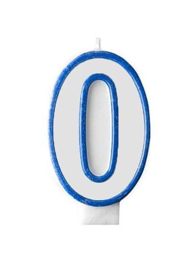 GoDan Dortová svíčka číslo 0 - modrá