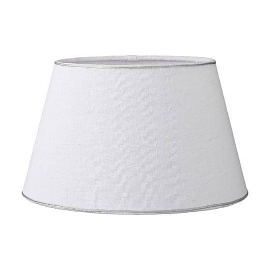 Lene Bjerre RUSTIC LINEN klosz, biały, 21,5 x 18 x 30 cm