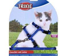 Trixie Nylonový postroj pro koťata jednobarevný 19-31cm/8mm