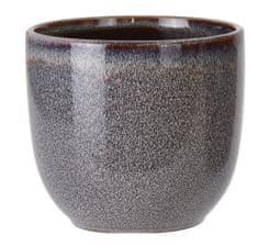 Koopman Keramický květináč Ø 16,5 cm, černý
