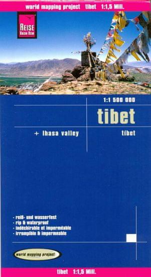 World Maps Tibet 1:1,5m skladaná mapa RKH