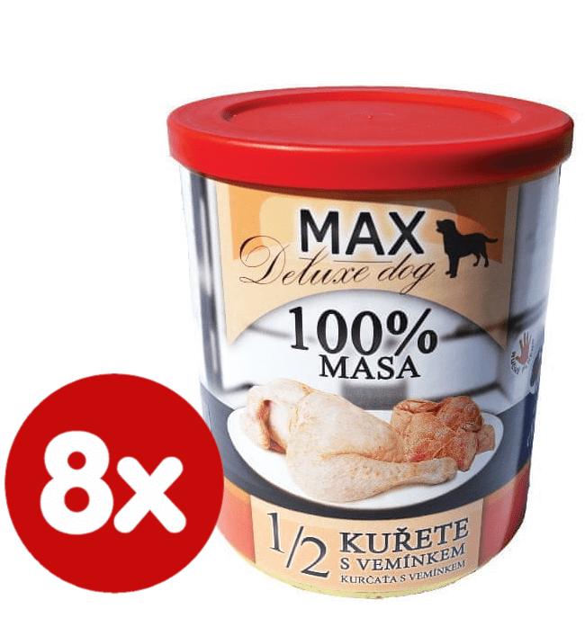 FALCO MAX deluxe 1/2 kuřete s vemínkem 8x800 g