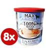 FALCO MAX Deluxe konzerve za odrasle pse, 1/2 piščanca z lososom, 8x 800 g