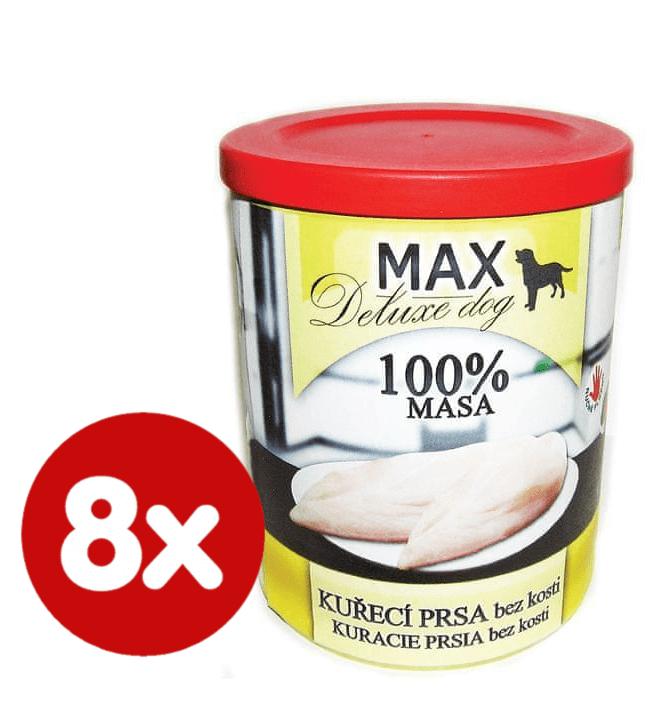 FALCO MAX deluxe kuřecí prsa bez kosti 8x800 g
