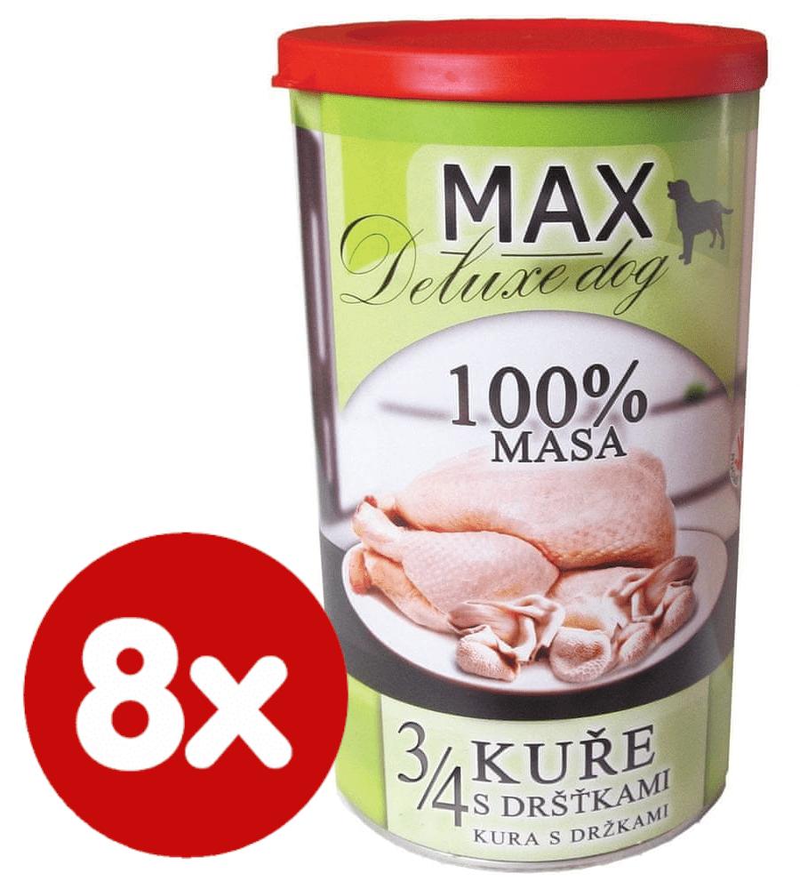FALCO MAX deluxe 3/4 kuřete s dršťkami 8x1200 g
