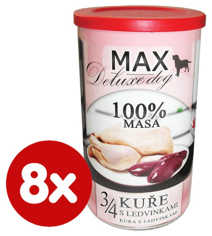 FALCO MAX deluxe 3/4 kuřete s ledvinkami 8x1200 g