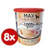 FALCO MAX Deluxe konzerve za odrasle pse, 1/2 piščanca z račjimi srčki, 8x 800 g