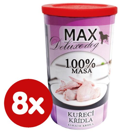 FALCO MAX Deluxe konzerve za odrasle pse, pileća krilca, 8x 1200 g