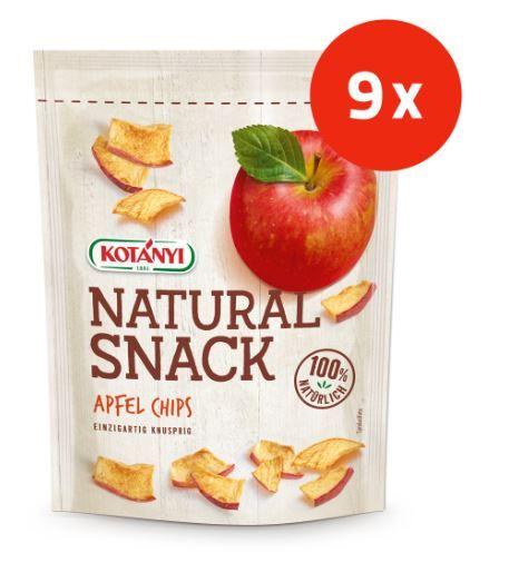 Kotanyi Natural Snack, jabolčni čips, 9 kosov