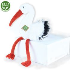 Rappa Plüss gólya madár, 39 cm, ECO-FRIENDLY