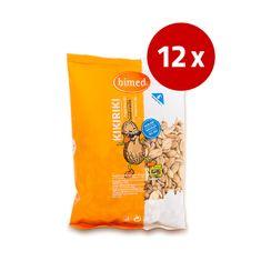 Bimed arašidi, praženi brez olja, nesoljeni, 12 x 250 g