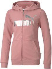 Puma dívčí mikina Ess+ Hooded Sweat Jacket G 104 růžová