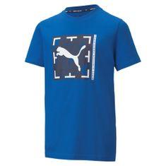 Puma Fiú póló Active Sports Graphic Tee B, 110, kék