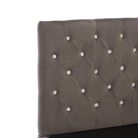 Petromila Posteľný rám, sivý, látka 160x200 cm