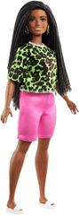 Mattel Barbie Model 144 – majica s neonskim leopard uzorkom i ružičastim kratkim hlačama