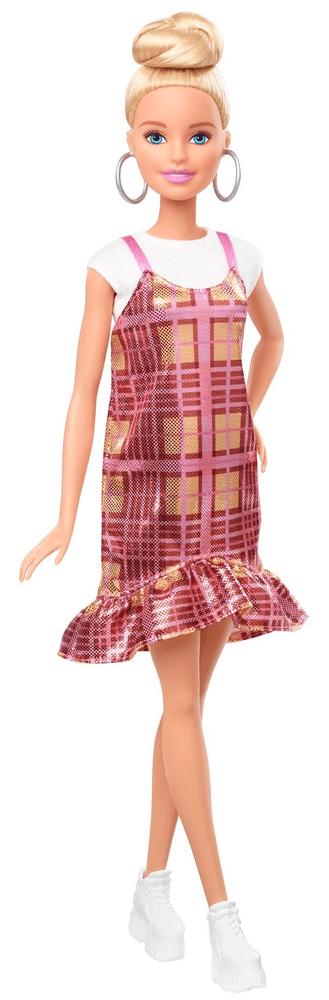 Mattel Barbie Modelka 142 - Plédové šaty