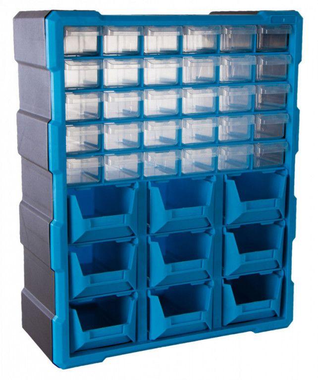AHProfi Plastový organizér / box na šroubky, 39 rozdělovníků - MW1501 | AHProfi
