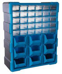 AHProfi Plastový organizér / box na skrutky 39 rozdeľovačov - MW1501