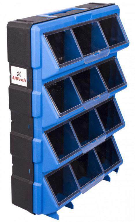 AHProfi Plastový organizér / box na šroubky, 12 rozdělovníků - MW1504 | AHProfi