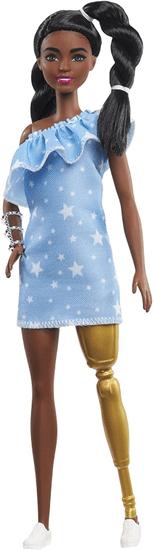 Mattel Barbie Model 146 – jeans obleka z zvezdicami