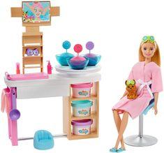Mattel Barbie Salón krásy Herní set s blondýnkou