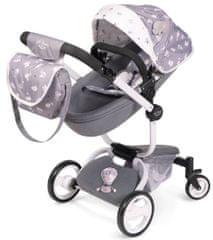 DeCuevas 81435 športni voziček za lutke dojenčke 3 v 1