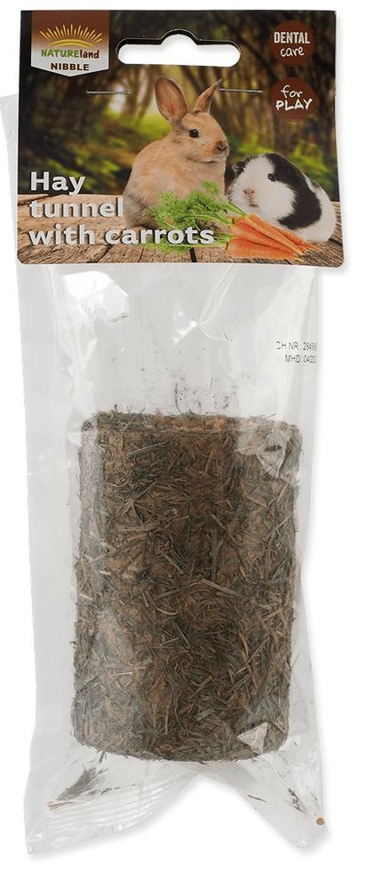 NATURE LAND Tunel Nibble ze sena plněný mrkví 6x125 g
