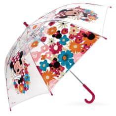 """SETINO Mechanický dáždnik """"Minnie Mouse"""" transparentný - fialovo bordová"""