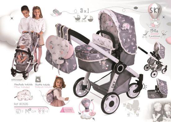 DeCuevas wózek dla lalek 3w1 80535